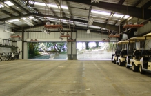 Pasatiempo Golf Club - Cart Storage Facility Interior